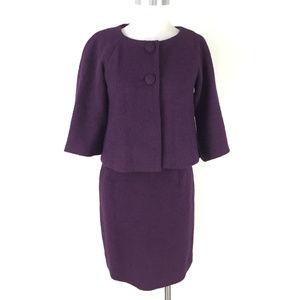 Kenar Nordstrom S 4 6 Plum Purple Boiled Wool suit
